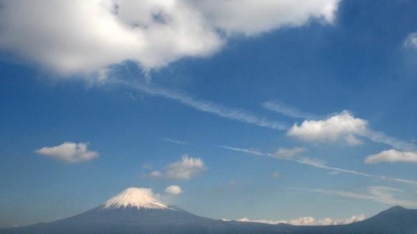 青空と富士山